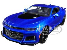 2017 CHEVROLET CAMARO ZL1 BLUE 1:24 DIECAST MODEL CAR BY MAISTO 31512