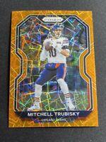 2020 Mitchell Trubisky Gold Orange Lazer Silver Prizm Chicago Bears #187
