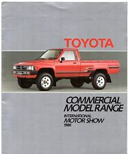 Toyota Commercial 1986-87 UK Market Sales Brochure Liteace Hi-Ace Hi-Lux 2WD 4WD