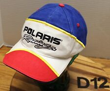 RED, WHITE, AND BLUE POLARIS RACING HAT SNAPBACK ADJUSTABLE EMBROIDERED VGC D12