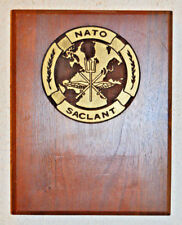 NATO SACLANT plaque crest shield Supreme Allied Commander Atlantic