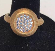 Designer inspired Gold  CZ  RING  6 Gift ! Fabulous