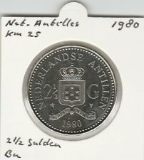 Netherlands Antilles 2 1/2 gulden 1980 BU - KM25