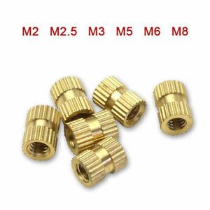M2 M2.5 M3 M6 M8 Brass Thread Inserts Nuts Knurl Nut Copper Insert With Plastic