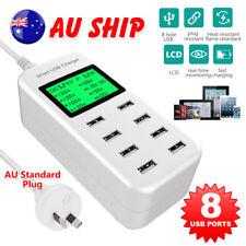 8 port USB Desktop Charger 5V/8A LCD Multi Smart Fast Charging Station AU