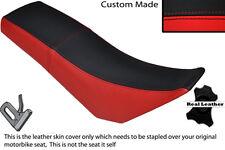 BLACK & RED CUSTOM FITS DERBI SENDA BAJA 125 DUAL LEATHER SEAT COVER