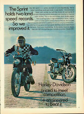 "1968 vintage motorcycle ad, Haley-Davidson 'Sprint"" -060113"