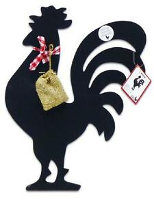 Anchor Hocking 19x13 Black RUSTIC Country ROOSTER Kitchen CHALKBOARD w/Chalk NEW