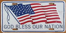 1995 GOD BLESS OUR NATION FLAG BOOSTER License Plate