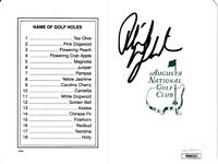 Phil Mickelson autographed signed Augusta National Masters golf scorecard JSA