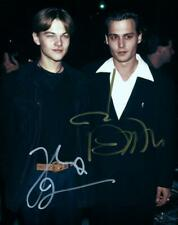 Johnny Depp Leonardo DiCaprio Autographed 8x10 Photo Picture signed + COA