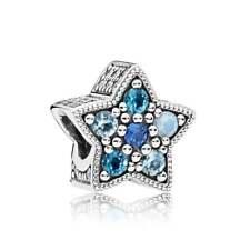 Authentic Pandora Charm  Bright Star Blue CZ Bead 796379NSBMX * WINTER 2017 B47