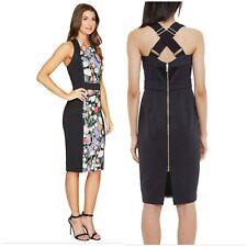 NEW Ted Baker Kensington Dress Floral Print Bodycon Wiggle Dress UK14 Rrp £170