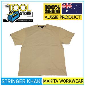 Makita Workwear Stringer Khaki T Shirt