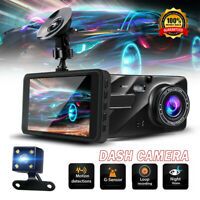 G-sensor Dual Dashboard Camera Front and Rear Night Vision 140 170 Wide Angle