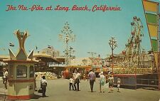 Nu-Pike Amusement Zone Long Beach CA Postcard Amusement Park