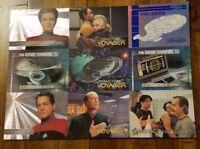 1993/95 skybox star trek uncut sheet and single promo cards Mint