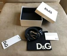 DOLCE & GABBANA D&G SMOOTH LEATHER STITCHING & SILVER BELT BUCKLE M 95 CM 38 IN