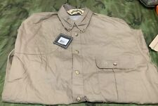 Bob Allen Short Sleeve Vent shoot hunt Shirt Right Hand Khaki men size Medium