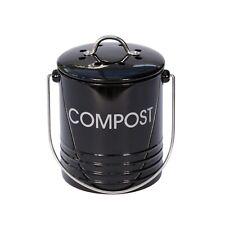 Mini Black Metal Compost Caddy - Kitchen Compost