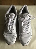 Reebok Women White Classic Leather Shoes Trainers Size 7 UK