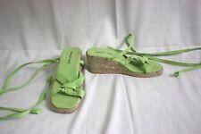 Newport News Womens Shoes Size 7 Green Canvas Espadrilles