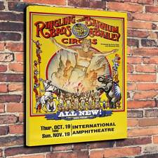 "Circus Ringling Bros & Barnum & Bailey Printed Canvas A1.30""x20""Deep 30mm Frame"
