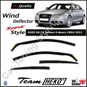 AUDI A6 C6 Saloon 4-doors 2004-2011 4-pc Wind Deflectors HEKO Tinted