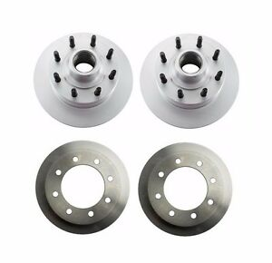 For Ford E-250 99-05 Set of 2 Rear & 2 Front Disc Brake Rotors Brembo
