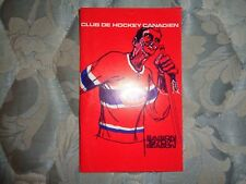 1970-71 MONTREAL CANADIENS MEDIA GUIDE YEARBOOK 1971 NHL CHAMPIONS! Program AD