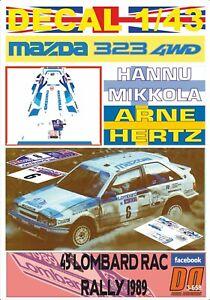 DECAL 1/43 MAZDA 323 4WD H.MIKKOLA RAC R. 1989 9th (06)