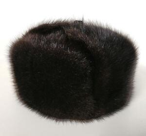 Real Muskrat Fur Ushanka Bomber Hat
