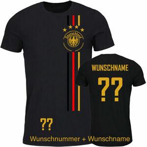 T-Shirt Fußball Kinder Trikot WM/EM Deutschland Trikot mit Streifen