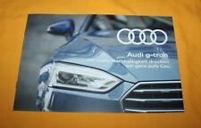 Audi G-Tron 2017 Prospekt Brochure Depliant Catalog Prospetto Folder  A3 A4 A5