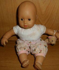 Zapf Babypuppe Mini Chou Chou Puppe 20 cm mit Teddy + von 1999