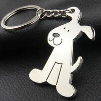 Adorable Dog Puppy Metal Keychain Key Chain Ring Keyring Key Funny Gi HOT F R4S0