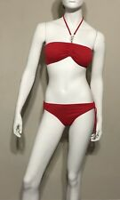 Ralph Lauren Swim Bathing Suit Red Two Piece Women's Size S