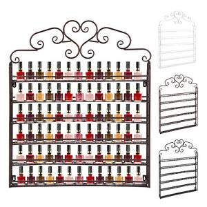 6Tier Nail Polish Display Rack Wall-Mount Display HolderStand Nail Varnish Shelf