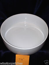"SERENA BASS SIX EASY PIECES 7.5"" ROUND ALL WHITE SERVING BOWL 1 QUART CAPACITY"