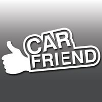 Funny Car Friend Thumbs Up Novelty Joke Car Window Bumper Vinyl Decal Sticker
