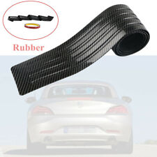 90x8cm Car Carbon Fiber Trunk Pad Bumper Rear Protector Sill Rubber Cover Guard