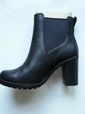 Timberland Atlantic Heights Chelsea Womens Black Leather Boots Size UK4 US6 EU37