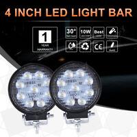 "2x 4"" Inch LED Work Light Bar 90W Spot Beam Off Road Car Truck Boat Lamps 12V UK"