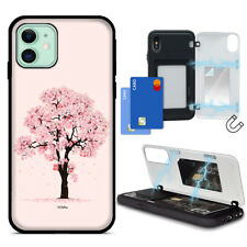 For iPhone 12 / 11 Pro 11 Max Case Cherry_Blossom Magnetic Card Back ShockProof