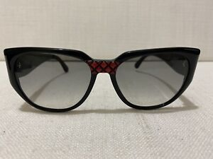 VALENTINO Women's Rectangle Sunglasses with Red Highlights 17-55-140