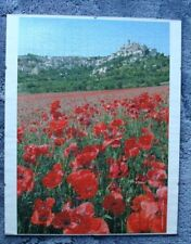 Poppy jigsaw puzzle mounted as a picture, 540 pieces. Complete.