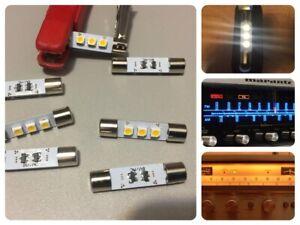 7x LED Lampen Warm-Weiss Marantz Pioneer Sansui Sony VU warm-white lamps bulbs