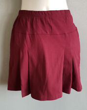 BNWT Girls Dark Maroon LW Reid Brand Sz 14 School Uniform Pleated Skort