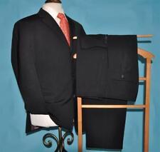 Hugo Boss USA 40 R black 2 vent stretch wool suit 34/32 flat front pants (a#y5j0