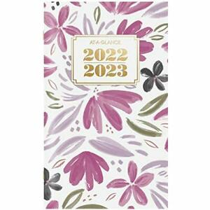 """2022-2023 Pocket Calendar by AT-A-GLANCE, 2 Year Monthly Planner, 3-1/2"""" x 6"""","""
